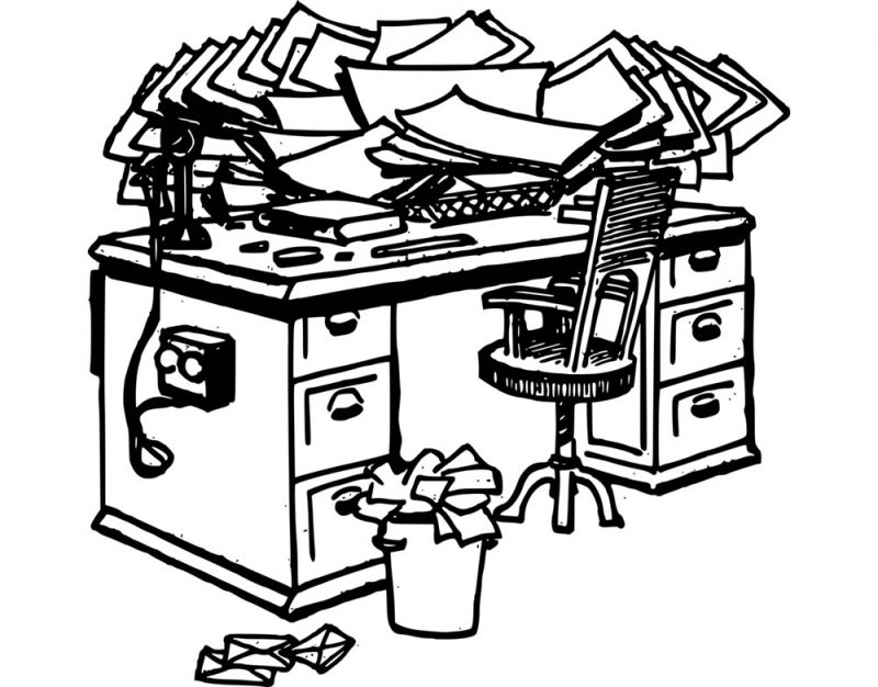 Cluttered Desk & Time Efficiency