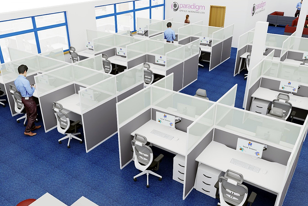Social Distancing Office Space 01
