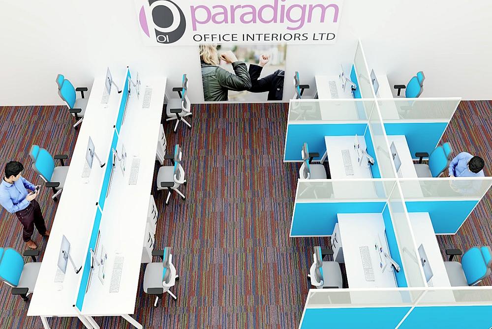 Post-Lockdown Social Distancing Office Space